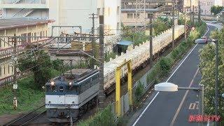 2017/08/12 [JR貨物] 臨8151レ EF65-2050牽引 リニア残土輸送列車 他、貨物列車!!