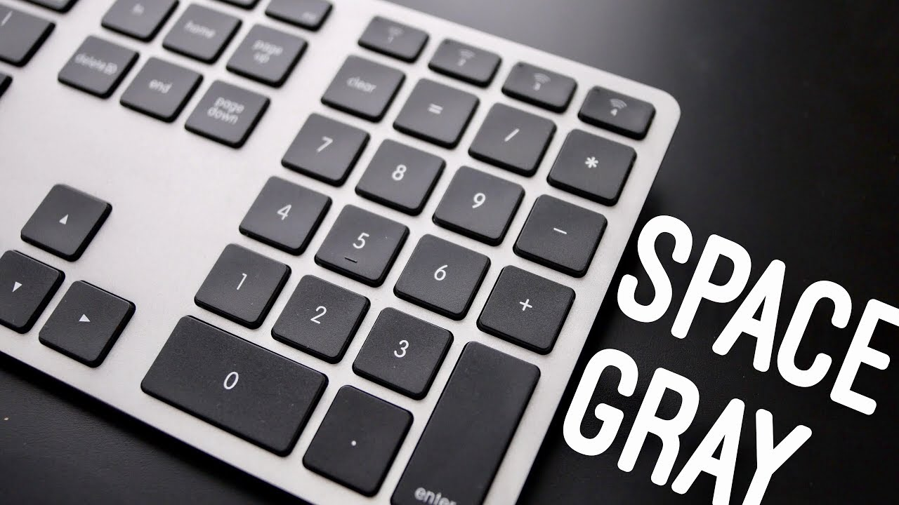 space grey keyboard for mac matias wireless aluminum keyboard review youtube. Black Bedroom Furniture Sets. Home Design Ideas
