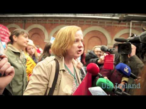 Prochoice activists bring illegal Abortion Pills into Ireland 28th October 2014