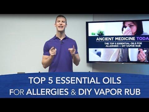 Top 5 Essential Oils for Allergies & DIY Vapor Rub