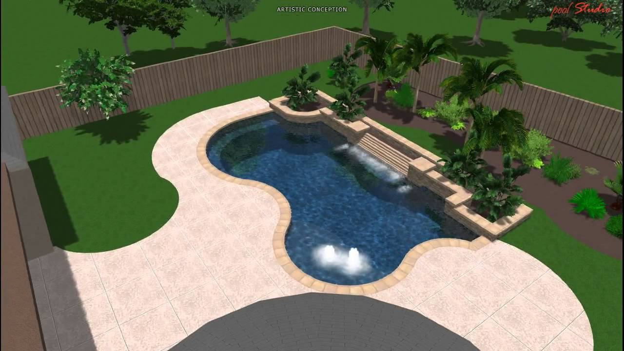 Pool studio 3d swimming pool design youtube for Swimming pool design youtube