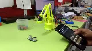 Mobile Control robotic using ARM