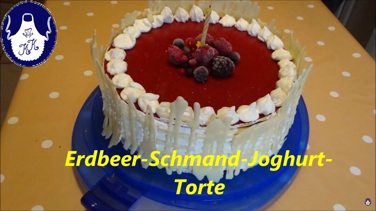 Erdbeer Sahne Schmand Torte Meine Uberraschungstorte