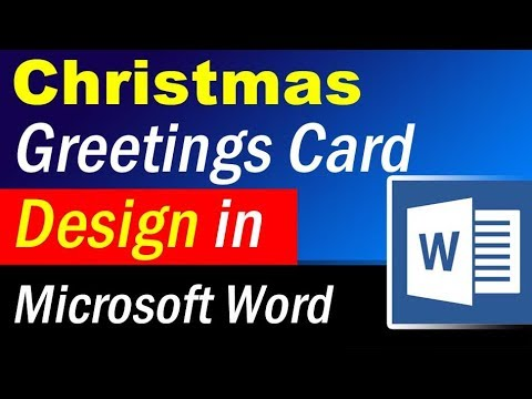 How To Design Christmas Greetings Card In Ms Word Microsoft Word