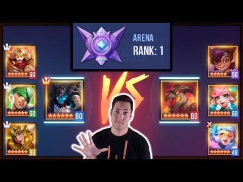 TOP 5 F2P Arena Defense Champions | Dungeon Hunter Champions