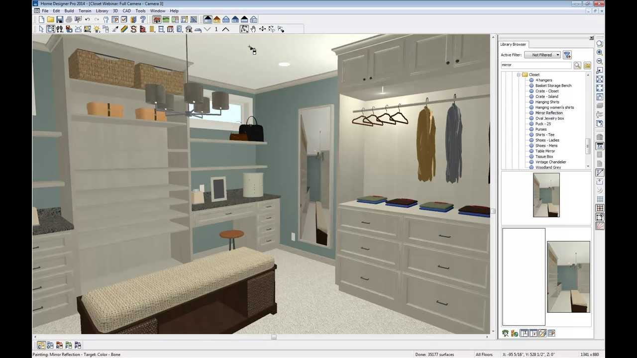 Home designer software custom closet webinar youtube for In home designer