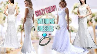 TRYING ON SUPER CHEAP WEDDING DRESSES FROM Babyonline!👰