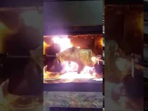 Maialetto sardo in cottura nel termocamino con forno for Ftl termocamini
