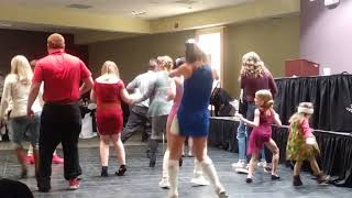 Steak & Dancing! #tslice🍕 #dancingwiththelocalstars #doyothang #linedancing