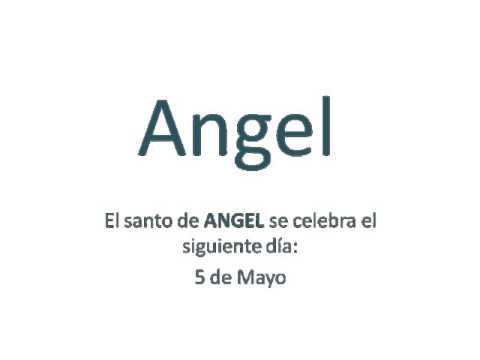 Origen Y Significado Del Nombre Angel Youtube