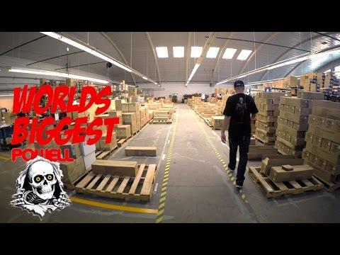 WORLDS BIGGEST SKATE WAREHOUSE TOUR AND HOW SKATEBOARDS ARE MADE !!!