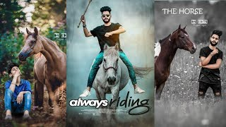 Picsart Horse riding editing || horse riding editing || picsart editing tutorial