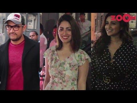 Rubaru Roshni Movie Screening | Aamir Khan, Parineeti Chopra, Yami Gautam, Jacqueline| Bolly Quickie
