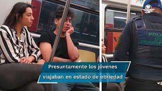 Según los usuarios, los hechos ocurrieron el pasado 21 de enero, en la estación Periférico Oriente de la Línea 12 del Sistema de Transporte Colectivo (STC) Metro, cuando varios policías ingresaron al vagón y pidieron a los jóvenes colocarse el cubrebocas, pero estos se negaron