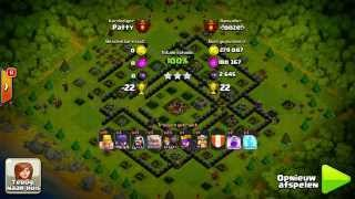 Clash of Clans - High level Raids 3300+ TEAM NL 100% Series =!ooze!= vs Patty GoWiWI