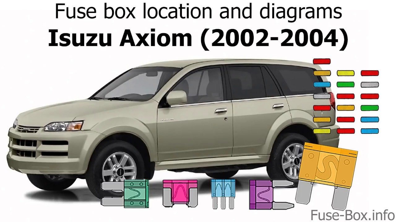 medium resolution of fuse box location and diagrams isuzu axiom 2002 2004 youtube