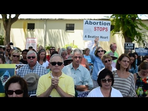 Anti abortion rights activists protest Planned Parenthood