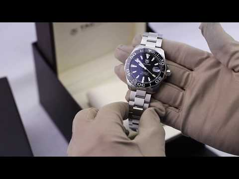 TAG Heuer Aquaracer Calibre 5 Automatic Black Steel 41mm WAY211A.BA0928 Unboxing Video