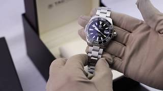 TAG Heuer Aquaracer Calibre 5 Automatic Black Steel 41mm WAY211A.BA0928 Unboxing video YouTube Videos