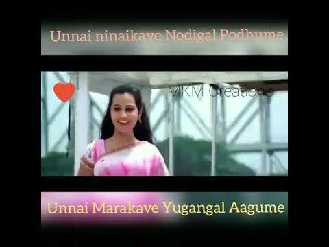Tamil WhatsApp Status video|Unnai ninaikave Nodigal Podhume|MKM Creations