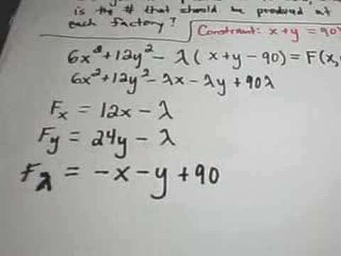 ❖ LaGrange Multipliers - Finding Maximum or Minimum Values ❖