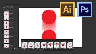 Adobe Illustrator to photoshop animation workflow tutorial
