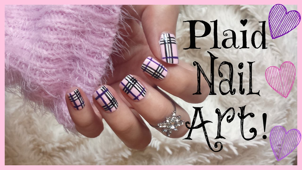 Charming Nail Polish To Wear With Red Dress Small Shades Of Purple Nail Polish Solid Cutest Nail Art How To Start My Own Nail Polish Line Old Foot Nails Fungus DarkWhere To Buy Opi Gelcolor Nail Polish Pink Plaid Nail Art! | MissJenFABULOUS   YouTube