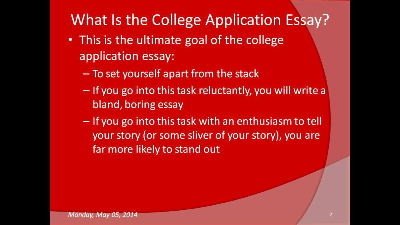 Writing a good college admissions essay intro