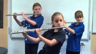 ▶ Hot Cross Buns   Flute Trio   Alana, Chelsea, Mali