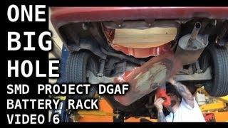 One BIG Hole - Dropdown Battery Rack - 8 16v Batteries - Project DGAF Tercel Video 6