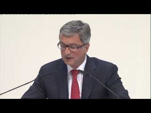 Rupert Stadler, CEO of AUDI AG at annual press conference 2013