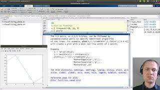 Plot af data og funktioner i matlab
