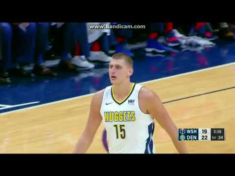 Nikola Jokic 3/3 for 3pt - Denver Nuggets vs. Washington Wizards - NBA - 23/10/2017 HD