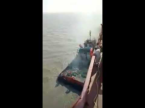 Blast in Tug while boarding of the vessel for demolition at Alang Anchorage.