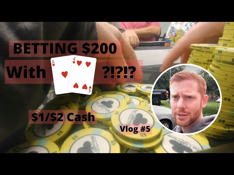 BIG POT With Ah4h?!? Playing $1/$2 -  Poker Vlog 2019 Ep 5 - Poker Strategy LIVE -  Poker Vloggers