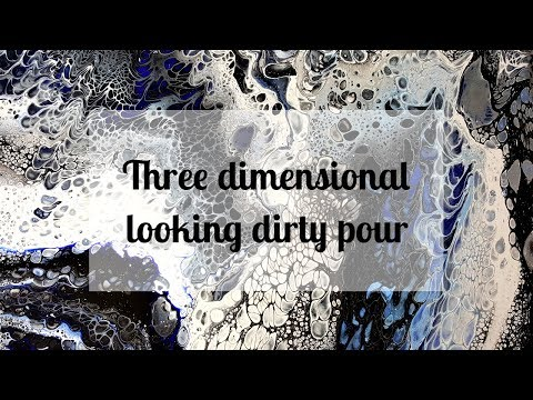 10 Acrylic Dirty Pour Black And Blue Youtube