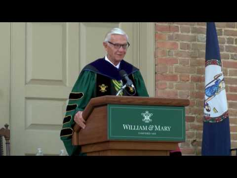 College of William & Mary Opening Convocation 2016