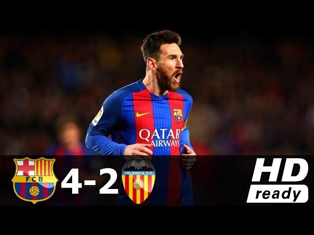 Barcelona vs Valencia 4-2 - All Goals & Extended Highlights - La Liga 19/03/2017 HD