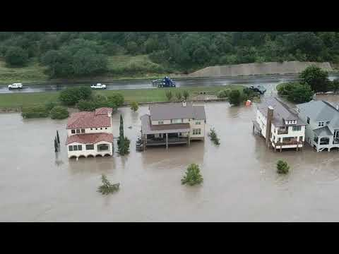 Marble Falls Flood Damage Drone Footage