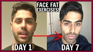 Face Fat Exercises For CHUBBY CHEEKS & DOUBLE CHIN!