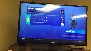 Finishing fortnite birthday challenges