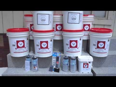 One year, 1 person emergency food supply Grab N Go Food Storage Becky Brown