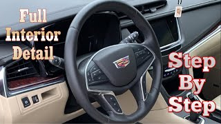 How to Detail A Cąr Interior/ step by step / auto detailing