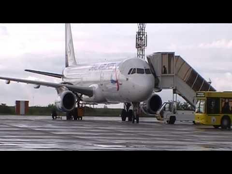 Аэропорт Алексей Леонов. Посадка и Взлёт