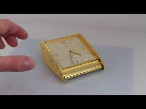 ... Imhof Swiss Desk Office Alarm Calendar Date Day Clock - YouTube