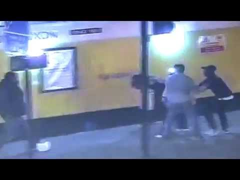 CCTV of an assault on Commercial street, East London
