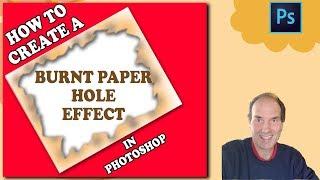 Photoshop   Photoshop CC Öğreticiler Yanmış Kağıt Delik Bir Etki Oluşturmak İçin nasıl
