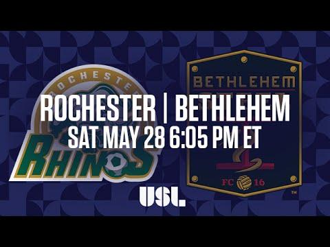 WATCH LIVE: Rochester Rhinos vs Bethlehem Steel FC 5-28-16