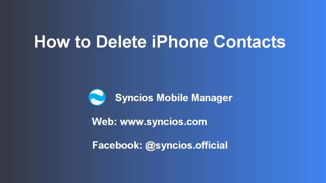 How to Delete Contacts on iPhone At Once, Remove iPhone Contacts