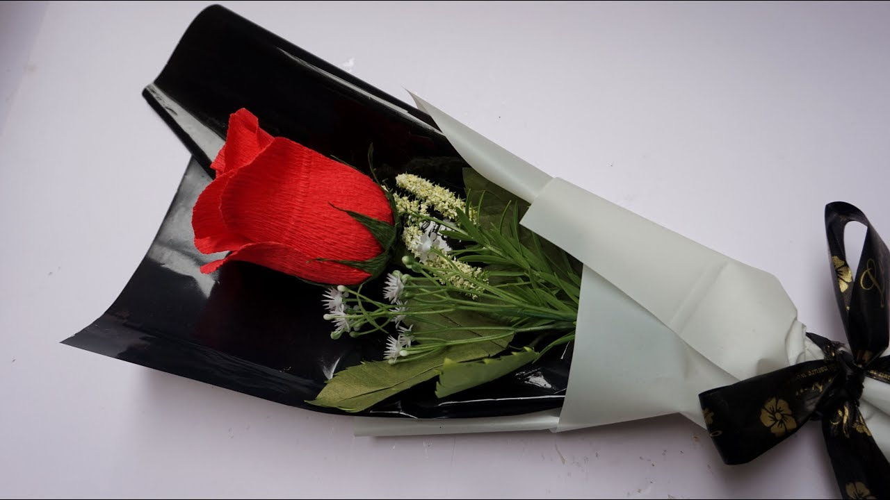 Cómo Hacer Ramo De Rosas Rosa De Papel Diy Bouquet Of Roses Manualidades